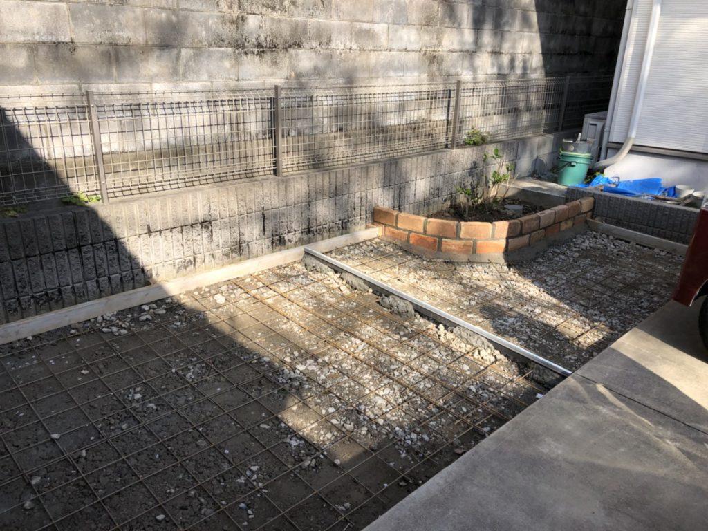 丈和庭 サクラ土間コンクリートとホビーコンクリート